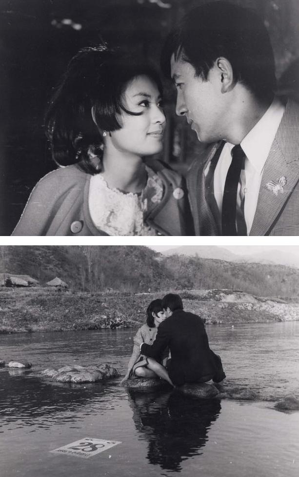 Illustration 1-2: Som April Går (Fjernøstlig industrifremme. 1967). Den tilbagevendte koreansk franske adopterede kvinde Mun ses i en intens etnisk rus med sin elskede Seong-hun, til tonerne af Patti Kim slageren af samme titel som filmen.